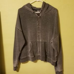 AE slouchy zip up